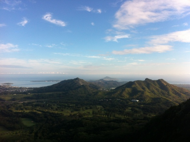 Kaneohe, from the Pali Highway.  Worth the drive.