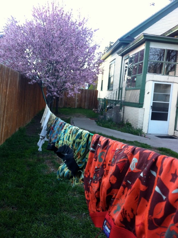 The way the sun and breeze dry my clothes in the Montana spring.