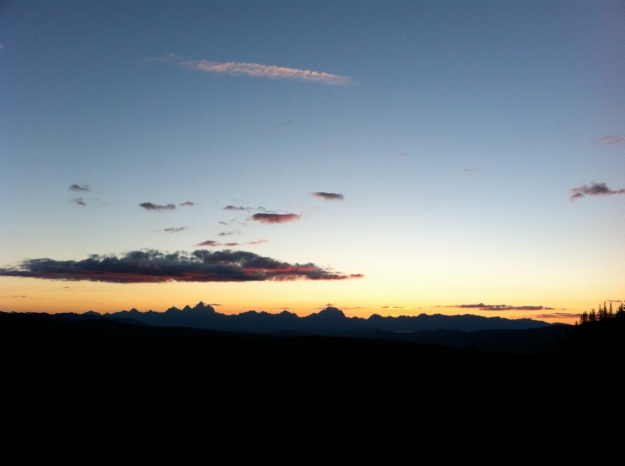Sunset over the Tetons. My backyard is big.