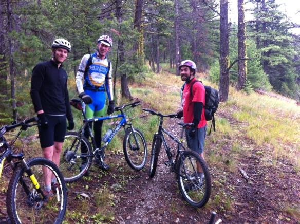 Tougher than me. Nick, Simon, and Jack head onwards to Sheep mountain.