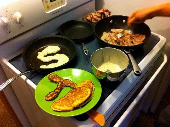 Epic birthday breakfast- thanks Paul.
