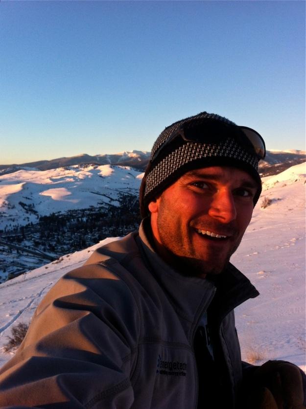 Skiing Mt Sentinel, Missoula, Montana