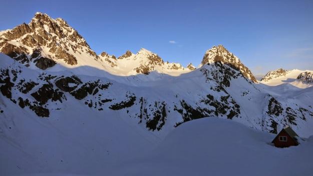 The Mint Glacier Hut.