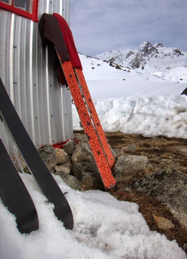 gear drying, ski mountaineering, bomber traverse, talkeetna mountains