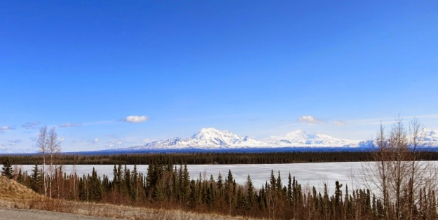 Mt Wrangell, from the Richardson Highway.