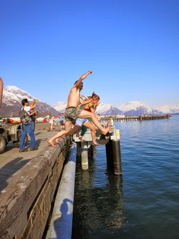 Valdez Multi-sport day: skiing, rock climbing, beer drinking, and swimming...