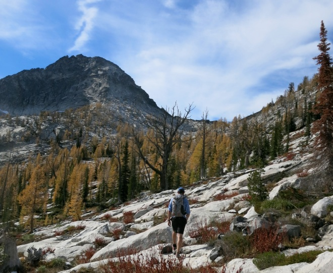 Canyon Peak basin in fall. Worth the hike.