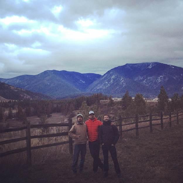 friends, sky, landscape, montana