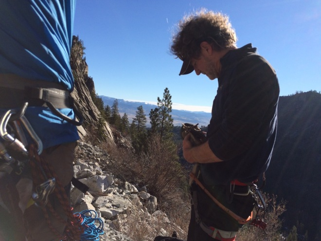 It's never bad to climb with Michael.