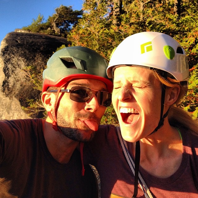 The best birthday present? Perfect weather in Squamish with this lady.