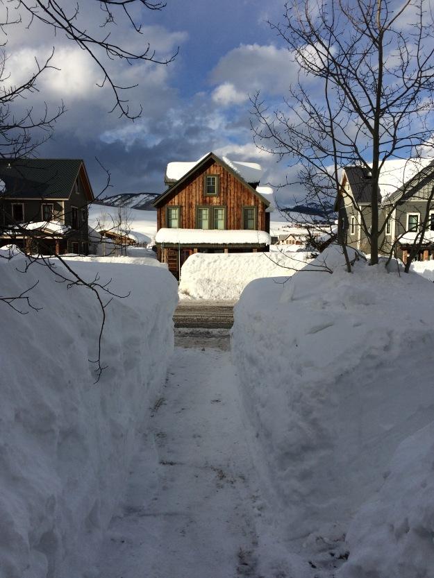 snow walkway, shovel, western