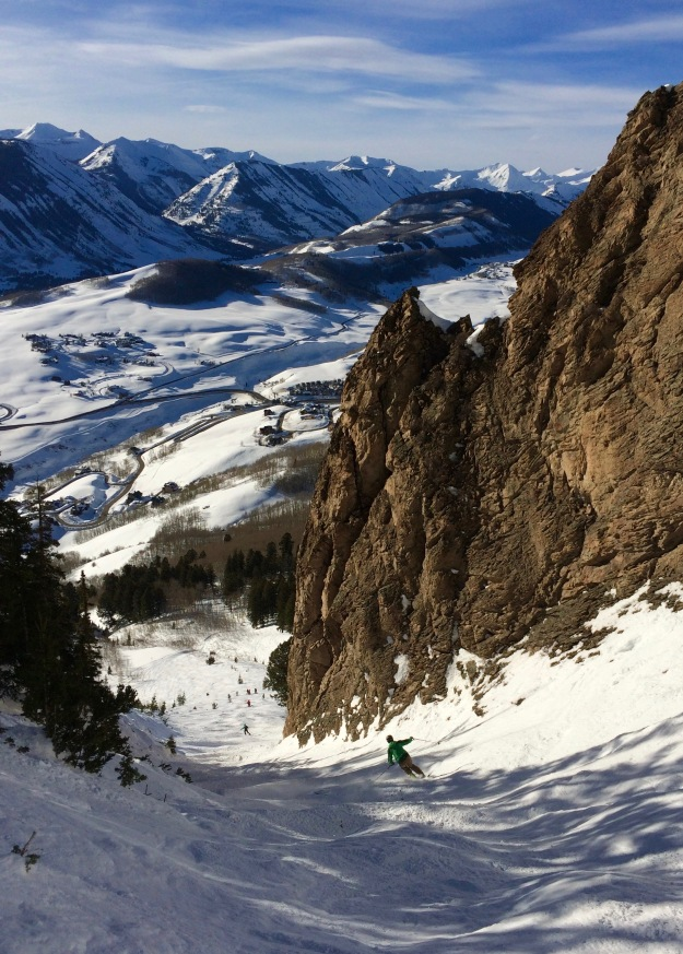 crested butte, deep throat, bluebird, colorado skiing