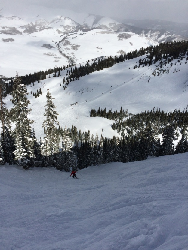 alaska air, crested butte, steep and deep, Big Chute