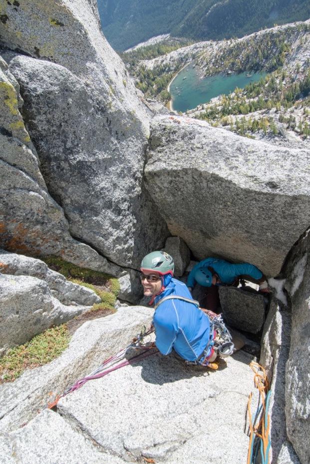 rock climbing, birth-canal, bergner-stanley, prusik peak
